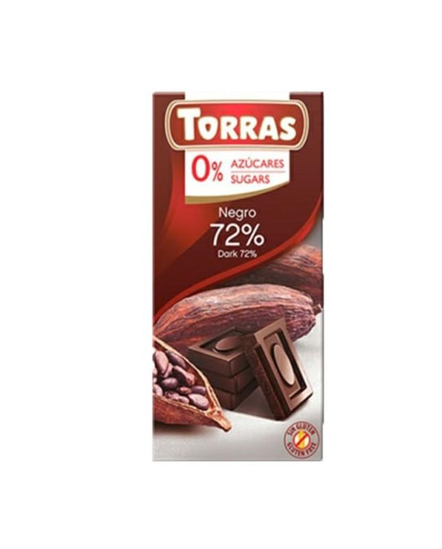 TABLETA CHOCOLATE NEGRO 72% CACAO
